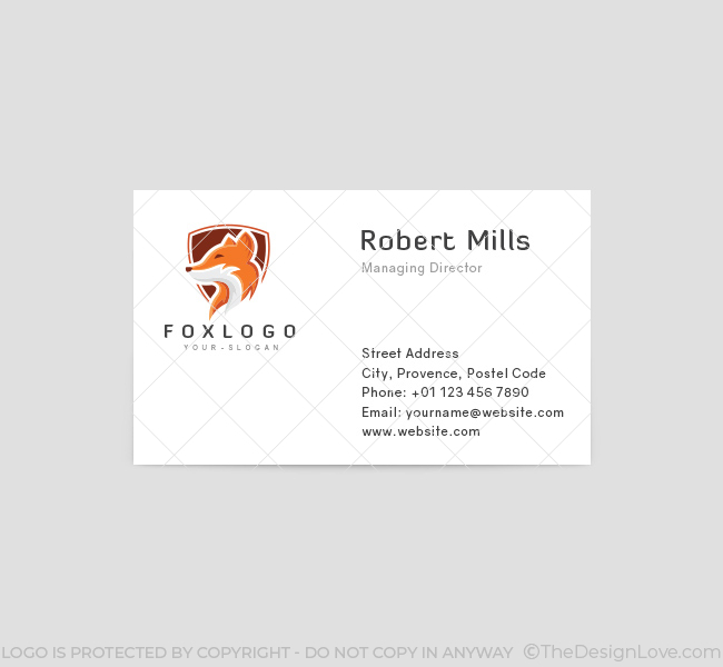 Fox-Shield-Business-Card-Template-Front