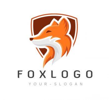 Fox Shield Logo & Business Card Template