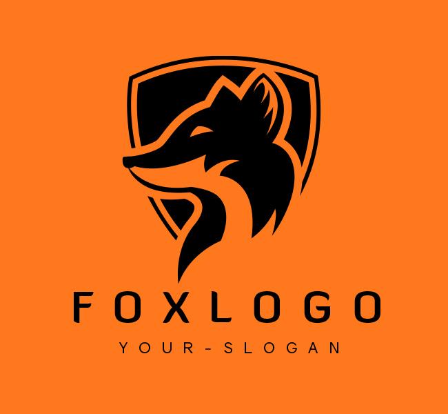 Fox Shield Logo For Sale Black