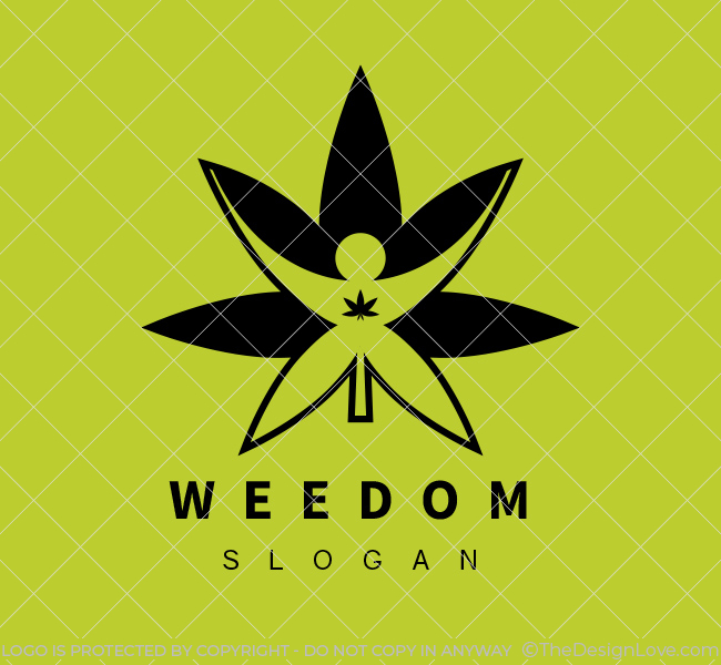 Freedom-Cannabis-Logo-for-Sale-Black