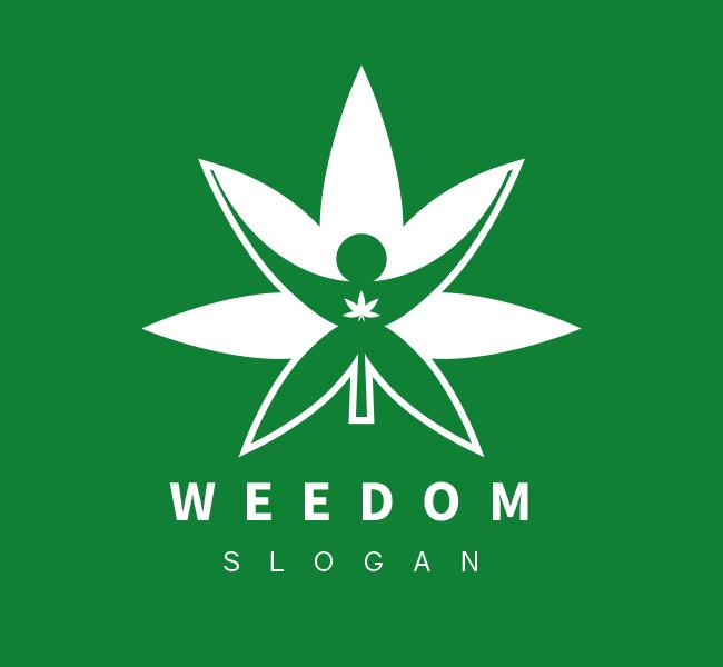 Pre-Designed-Logo-Freedom-Cannabis-White