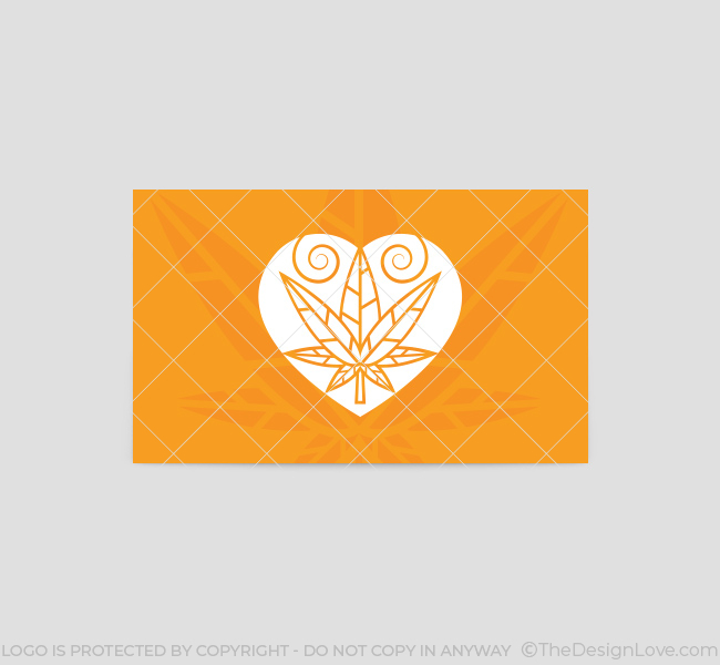 Weed love logo business card template the design love weed love business card template back flashek Images