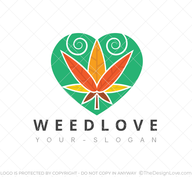 Weed love logo business card template the design love weed love logo wajeb Image collections
