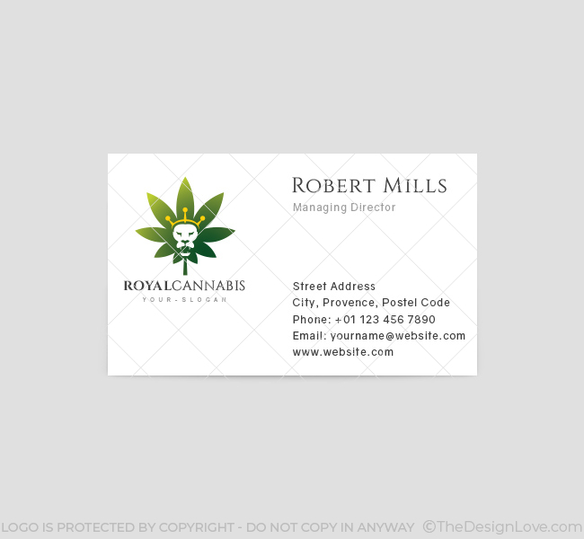 244 royal cannabis business card template front
