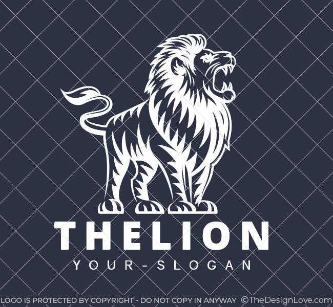 Pre-Designed-Logo-The-Lion-White