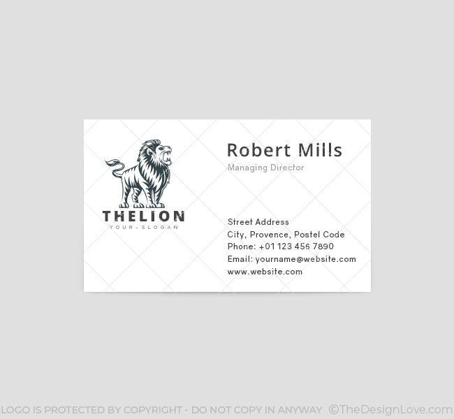 The-Lion-Business-Card-Template-Front