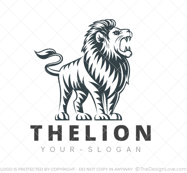 The lion logo business card template the design love The designlover