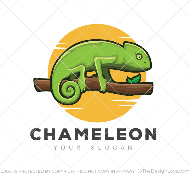 Green Chameleon Logo & Business Card Template - The Design Love