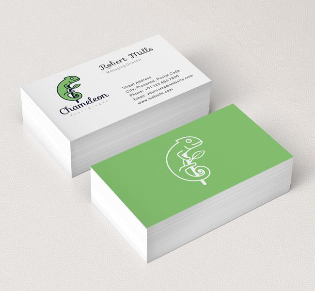 Simple-Chameleon-Business-Card-Mockup