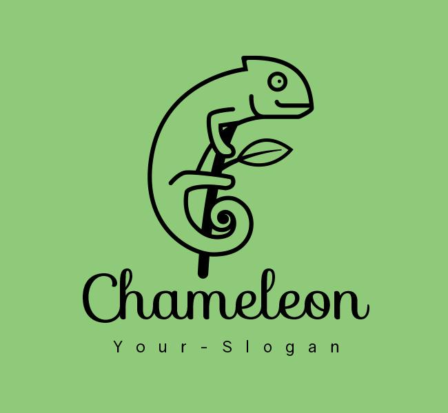 Stock-Logo-Simple-Chameleon-Black
