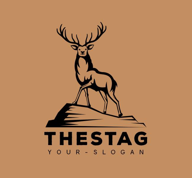 Stock-Logo-The-Stag-Black
