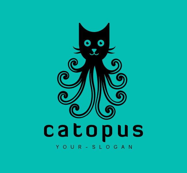 Octopus-Logo-for-Sale-Black