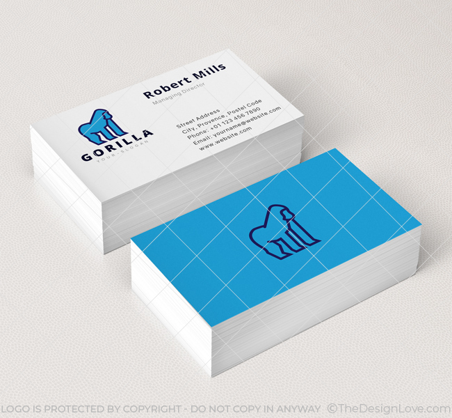 Minimal-Gorilla-Business-Card-Mockup