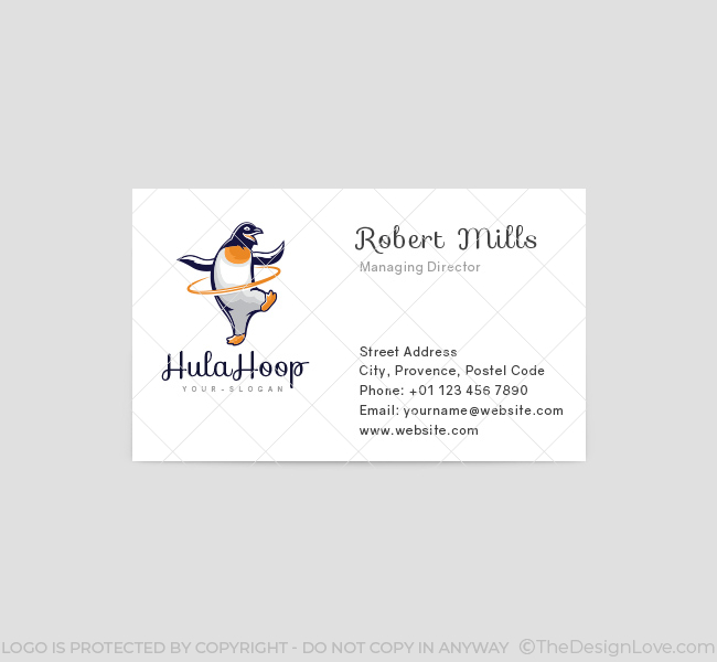 HulaHoop-Penguin-Business-Card-Template-Front