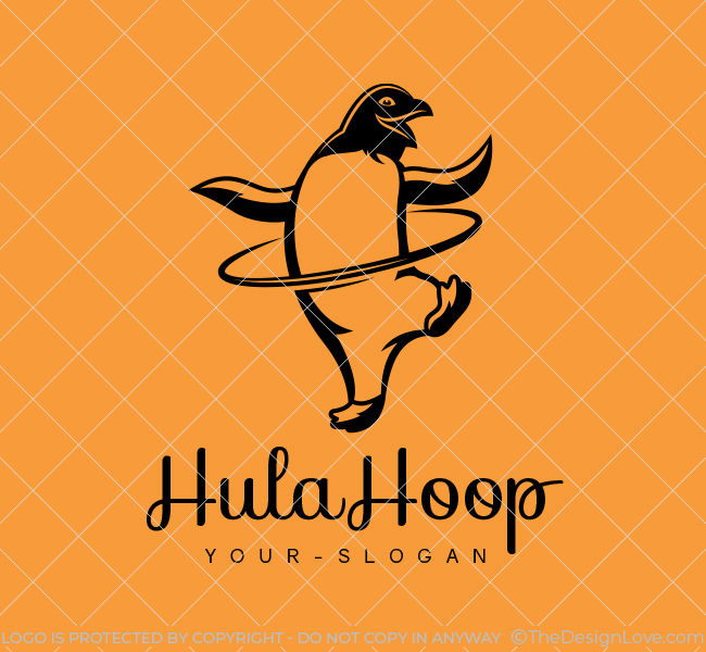 Stock-Logo-HulaHoop-Penguin-Black