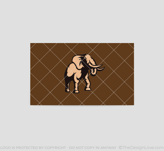 Charging-Elephant-Business-Card-Template-Back