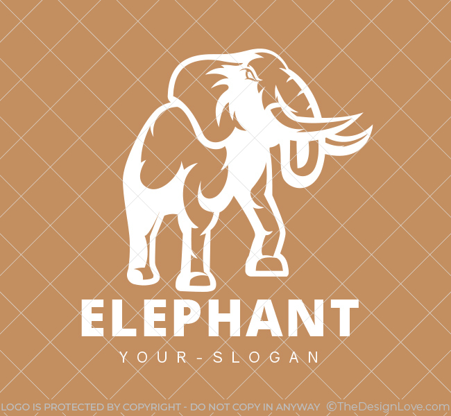Pre-Designed-Logo-Charging-Elephant-White