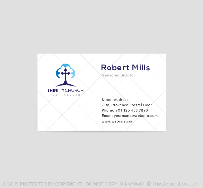 Trinity-Church-Business-Card-Template-Front