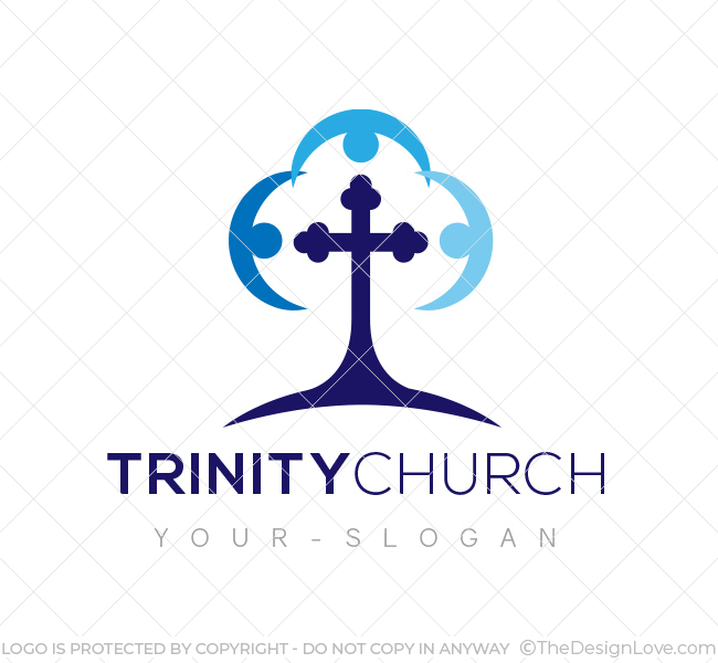trinity church logo business card template the design love