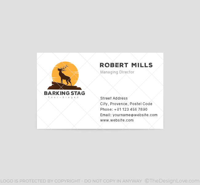 Barking-Stag-Business-Card-Template-Front