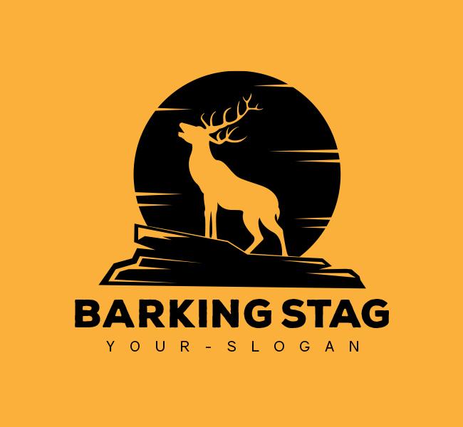 Stock-Logo-Barking-Stag-Black