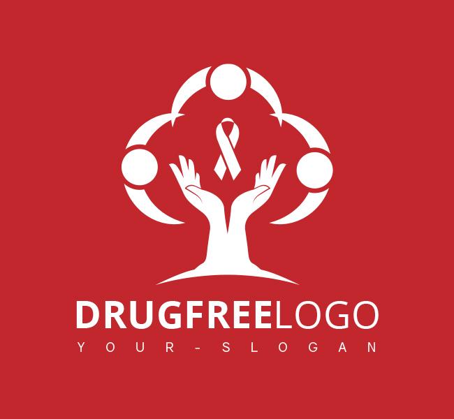 Pre-Designed-Logo-Drug-Free