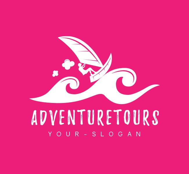 Pre-Designed-Logo-Adventure-Tourism-White