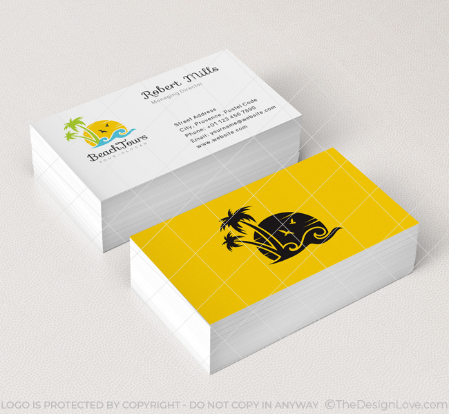 Beach Business Cards The Best Bus