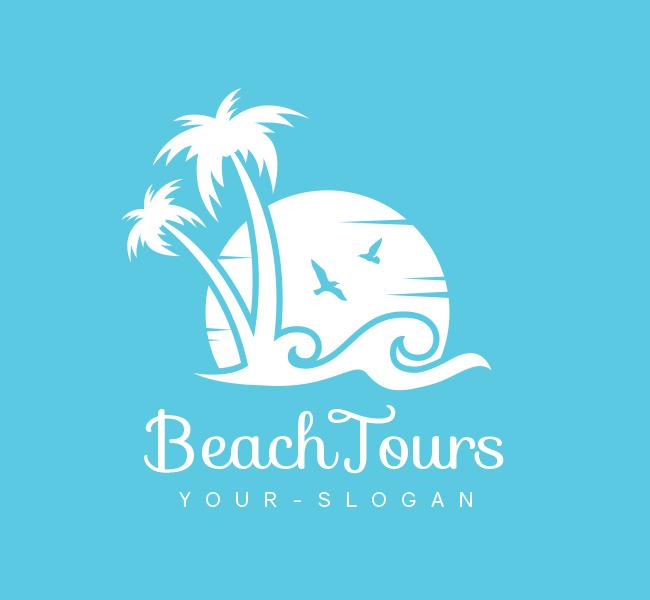 Pre-Designed-Logo-Beach-Tours-White