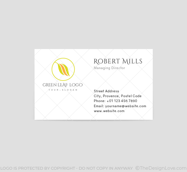 Green-Leaf-Business-Card-Template-Front