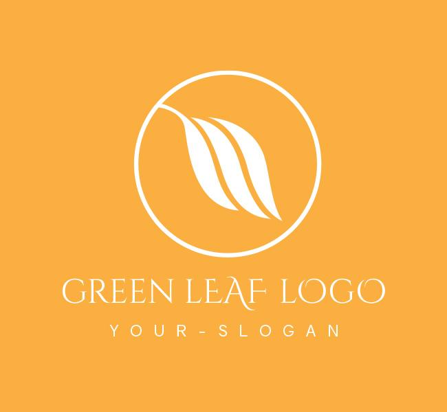 Pre-Designed-Logo-Green-Leaf-White
