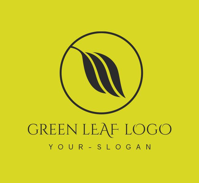 Stock-Logo-Green-Leaf-Black