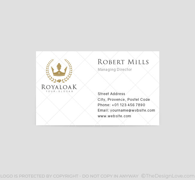 Royal-Oak-Business-Card-Template-Front