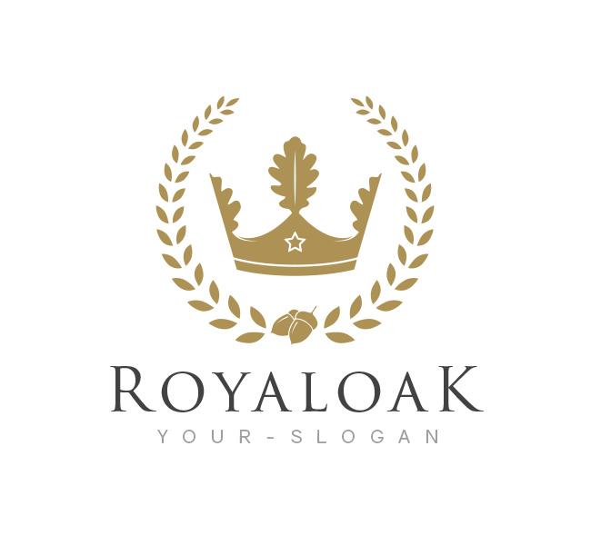 royal oak logo business card template the design love. Black Bedroom Furniture Sets. Home Design Ideas
