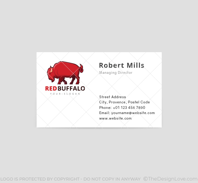 Red-Buffalo-Business-Card-Template-Front