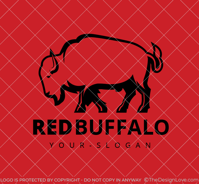 Stock-Logo-Red-Buffalo-Black