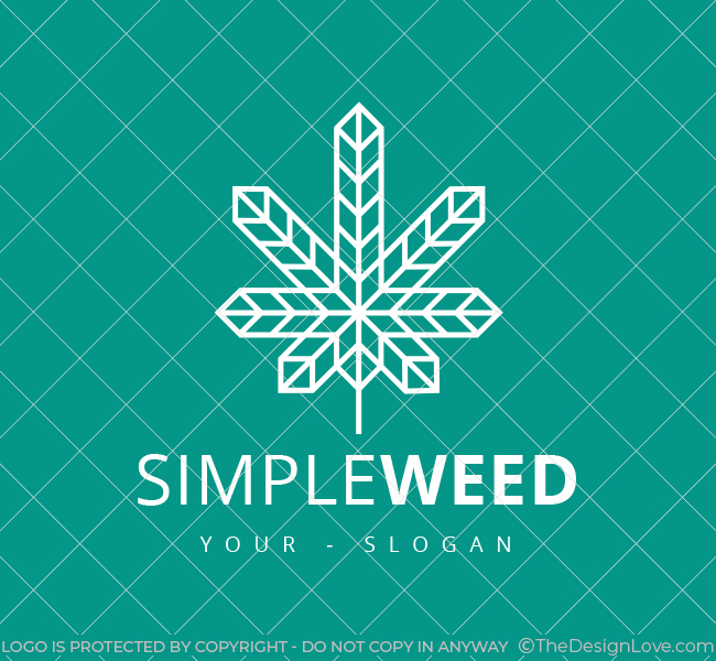 Pre-Designed-Logo-Minimal-Cannabis