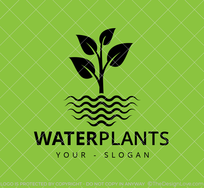 Stock-Logo-Water-Plants-Black