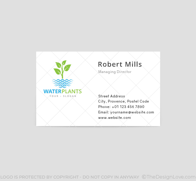 Water-Plants-Business-Card-Template-Front