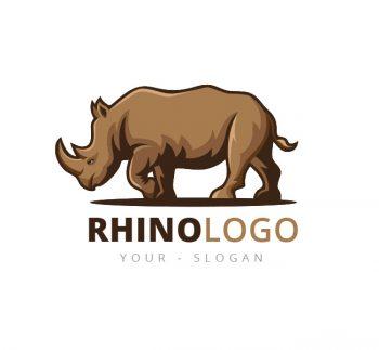 Illustrative Rhino Logo & Business Card Template