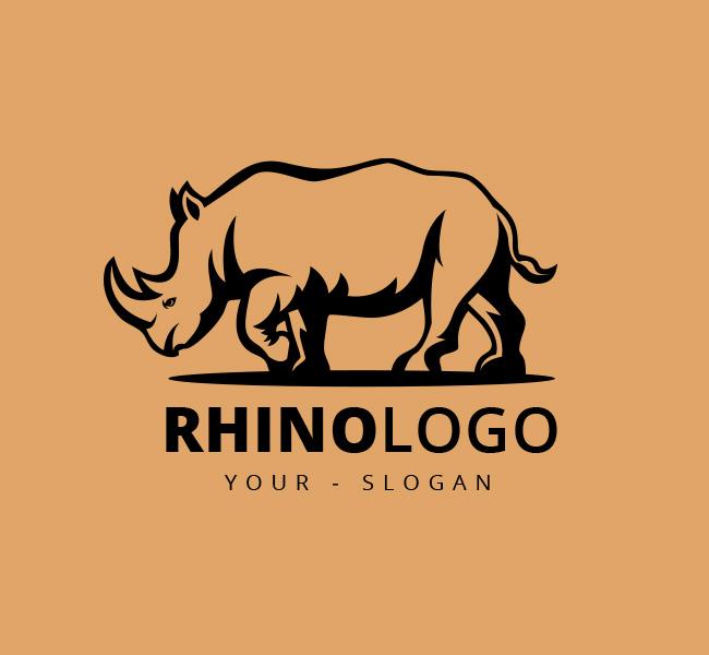 Stock-Logo-Illustrative-Rhino