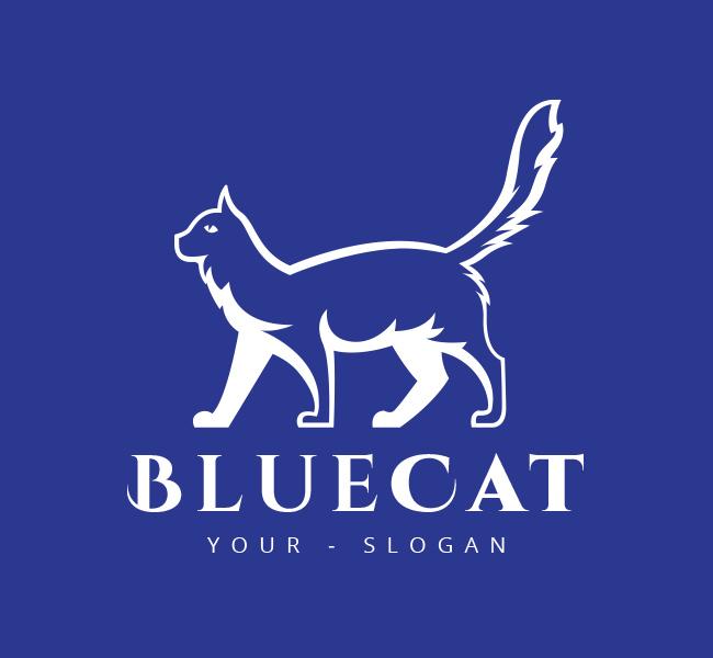 Pre-Designed-Logo-Cat-Logo-White