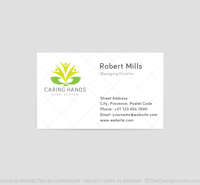 Caring-Hands-Business-Card-Template-Front