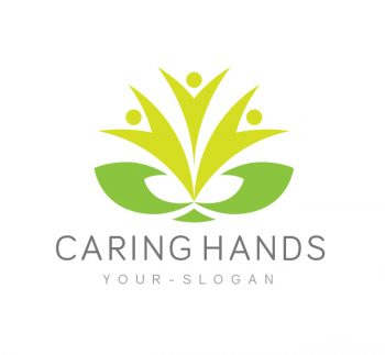 Caring Hands Logo & Business Card Template