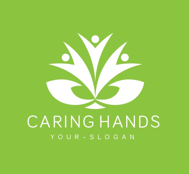 Pre-Designed-Logo-Caring-Hands