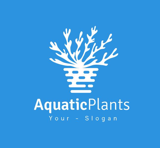 Pre-Designed-Logo-Aquatic-Plant