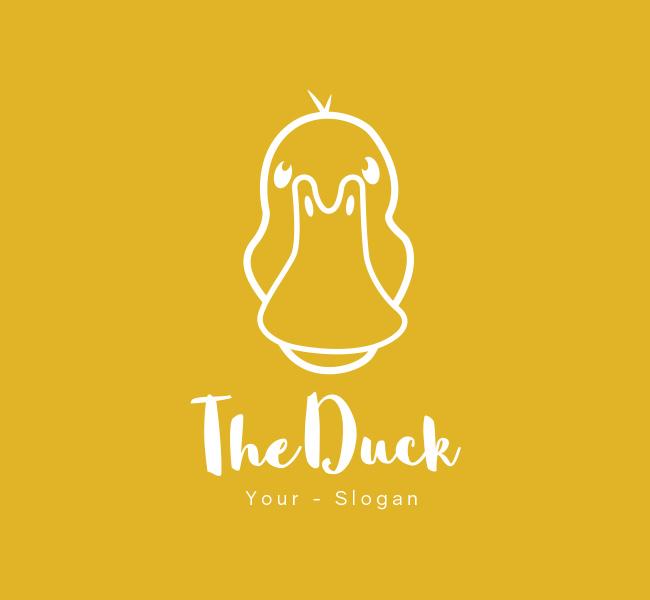 Pre-Designed-Logo-Simple-Duck-White