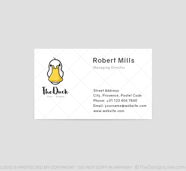 Simple-Duck-Business-Card-Template-Front