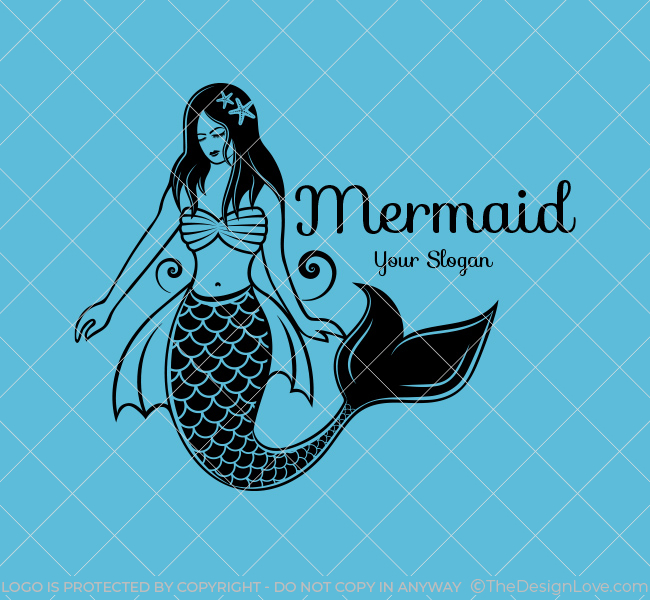 Stock-Logo-Illustrative--Mermaid-Black