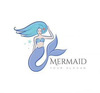 Blue Mermaid Logo & Business Card Template